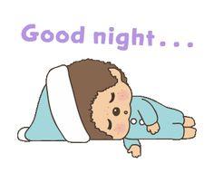 Good Night Greetings, Good Night Wishes, Good Night Quotes, Good Night Image, Good Morning Good Night, Cartoon Gifs, Line Sticker, Cute Stickers, Animation