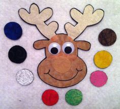 Rudolph Rudolph Flannel Felt Board Set by DMCraftDesigns on Etsy, $15.00