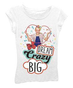 White Jojo Siwa 'Dream Crazy Big' Tee - Girls
