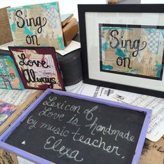 """The original and a matted framed print (sold!) of my piece """"Sing on"""" at the Acworth Arts festival this weekend"""