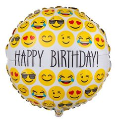 Emoji Ballon Smileys Birthday Congratulations With Balloon Are You Looking For Balloons That Immediately Catch The Eye Because Of Their