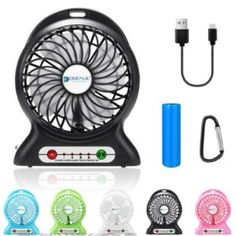 Dizaul Portable Mini Rechargeable Battery USB Cooling Fan Power Bank Flashlight for sale online Function Generator, Best Humidifier, Portable Fan, Desk Fan, Fish Camp, Hiking Backpack, Electronics Gadgets, Battery Operated, Flashlight
