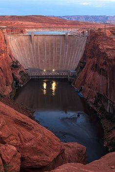 Dam Photo Glen Canyon Dam Page, Arizona Arizona Travel, Arizona Usa, Yuma Arizona, Glen Canyon Dam, Water Dam, Las Vegas, Hoover Dam, Lake Powell, World Images