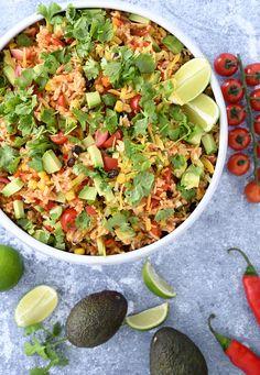 Mexicansk risret - skøn opskrift på en lækker tex mex ret med ris Veggie Recipes, Mexican Food Recipes, Healthy Recipes, Ethnic Recipes, Healthy Food, Veggie Pasta, Vegetable Pizza, Tex Mex, Mexico Food