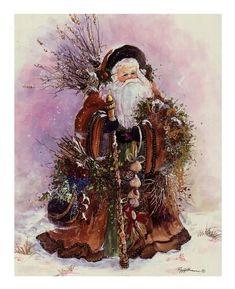 Santa's Bounty ~ Fine-Art Print - Santa Claus Art Prints and Posters - Christmas Pictures Vintage Christmas Images, Victorian Christmas, Christmas Pictures, Christmas Scenes, Christmas Past, Father Christmas, Santas Vintage, Vintage Santa Claus, Saint Nicolas