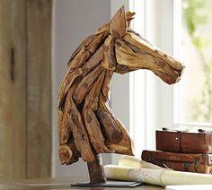 Wood Horse Head - Pottery Barn