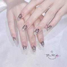 Cute Nail Art, Cute Nails, Pretty Nails, Acrylic Nails Coffin Short, Coffin Nails, Asian Nails, Yellow Nails, Cute Nail Designs, Stylish Nails