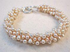 Kumihimo with beads fresh water pearl