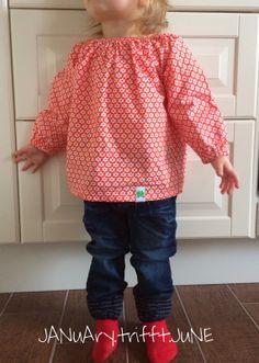 JANuAry trifft JuNE: My kid wears #7 - Blumen-Tunika