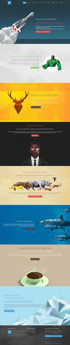 Unique Web Design, No8 via @smnc1 #WebDesign #Design #Polygon #LowPoly