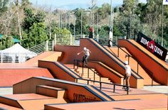 Escondido Sportspark Skate Park - paid admission, helmet, knee pads and elbow pads required (really, although they allowed socks on the elbows for a pad). Limited to 40 persons per 3 hour session. Scooter ONLY session is Sat mornings.