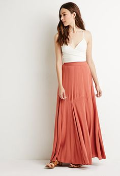 Pintucked Maxi Skirt | Forever 21 - 2000131116