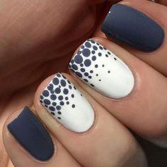 Dot Nail Art, Polka Dot Nails, Polka Dots, Nail Art Blue, Nail Art Dotting Tool, Simple Nail Art Designs, Easy Nail Art, Latest Nail Designs, Stylish Nails