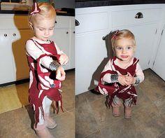 It's the Modern Kiddo Costume Parade! | Modern Kiddo. Hahahahahahaha she went as last gaga  - I bet u guessed it   She's in her meat dress! Lol