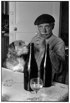 Henri Cartier-Bresson - France. Centre. Loir-et-Cher. 1955. Monsieur DATTE (Père).
