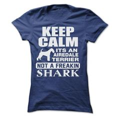 KEEP CALM IT IS AN AIREDALE TERRIER T Shirts, Hoodies. Get it here ==► https://www.sunfrog.com/LifeStyle/KEEP-CALM-IT-IS-AN-AIREDALE-TERRIER-Ladies.html?57074 $22.9