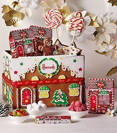 Harrods Tuck Box Christmas Hamper - Love the idea to make the cardboard box a gingerbread house design <3