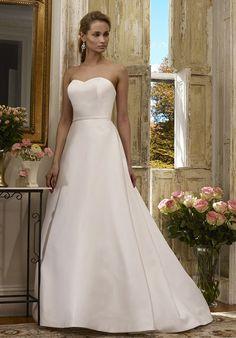 Strapless Matte A-Line Wedding Dress | Bloom by Robert Bullock Bride  http://trib.al/38BidkY