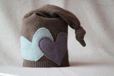 Upcycled Newborn Hat Elf Hat Eco Friendly Hat Newborn Photo Prop Ready to Ship. $15.00, via Etsy.