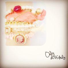「bracelet #accessory #bracelet #stone #pink #cameo #old #onlylovedaily」