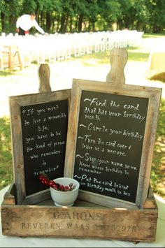 Emily sent us some photos of her wedding brunch decorations! We love how she used our chalkboards!