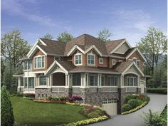 Craftsman House Plan with 4645 Square Feet and 4 Bedrooms from Dream Home Source   House Plan Code DHSW64034