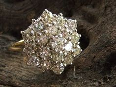 cluster diamond engagement ring. I have a cluster ring that I want to get redesigned. This is timeless!