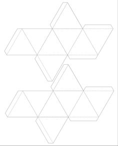 paper solids template: octahedron