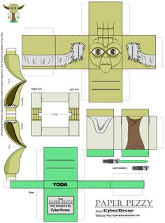 Paper Pezzy- Yoda by CyberDrone.deviantart.com on @DeviantArt