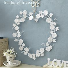 Large Vintage Daisy Heart £14.95