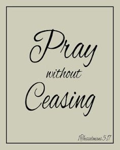 Pray without Ceasing printable