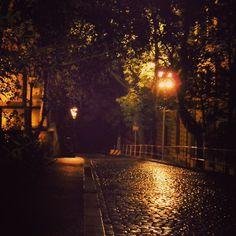 """cityneonlights: """"Rainy night """""""
