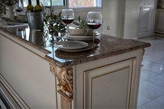 Classic kitchen. Handmade. Nomidis Luxury Furniture   #classic#silver#gold#luxury#classicfurniture#classicstyle#luxurystyle#door#kitchen#classickitchen#classicdoor#classicwardrobe#handmade#classichouse#classichome