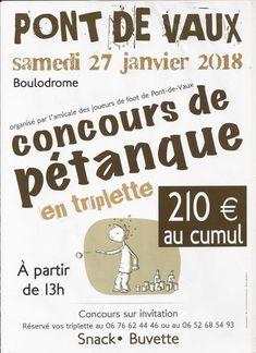 L'Union sportive Pont-de-Vaux-Arbigny organise un concours de pétanque.