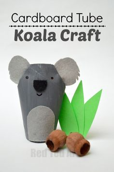 Toilet Paper Roll Koala Crafts for Kids - we are exploring the ABC with this K for Koala TP Roll Craft. Just too cute. Love TP Rolls, Love Koalas. The perfect combination. Great TP Roll Animal DIYs on this page. Check out the TP Roll Koala today! #koala koalacraft #crafts #tprolls #tioletpaperolls #cardboardtubes #australia