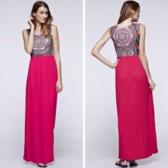 Pacific Island Maxi Dress - $36.99 - Ships FREE!  Small 2-4 Medium 4-6  Large 6-8