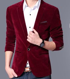 Mens blazer slim fit suit jacket black navy blue velvet 2016 spring autumn outwear coat Free shipping Suits For Men-in Blazers from Men's Clothing & Accessories on Aliexpress.com | Alibaba Group