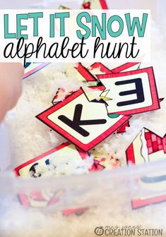 Let it Snow Alphabet Game - Mrs. Jones Creation Station
