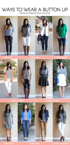 Ways to Wear a Gingham Button Up