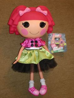 """Lalaloopsy Doll Clothes for 12"""" doll.  Dress for full size doll just like the mini """"Scraps Stitched N Sewn"""""""