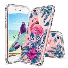 Amazon.com: iPhone 6 Case, Clear iPhone 6s Case, MOSNOVO Tropical Palm Tree Leaves Clear Design Printed Transparent Plastic Hard Back Phone Case with TPU Bumper Protective Cover for Apple iPhone 6/6s (4.7 Inch): Cell Phones & Accessories