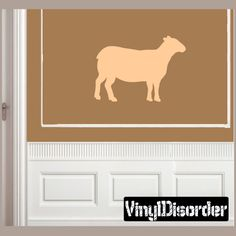 Sheep Wall Decal - Vinyl Decal - Car Decal - NS001