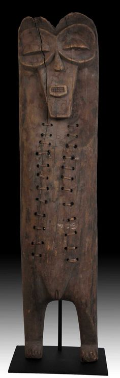 Africa | Cross River body mask from Nigeria | ca. early 20th century | 110cms | Beautiful tribal repair.