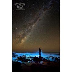 The Milky Way from the Great Ocean Road. #geelong #surf #surfcoast #milkyway #nightsky #stars #greatoceanroad #lorne #australia #victoria #nikon #nikond800 #selfie #selfportait by photographybyjamescollier http://ift.tt/1IIGiLS