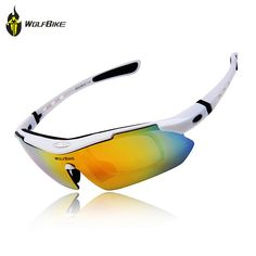 11d778e76a7ef Polarized Cycling Sun Glasses Outdoor Sports Bicycle Glasses Bike  Sunglasses Running Driving Racing Ski Goggles Eyewear Cool with  Exchangeable 5 Lens White ...