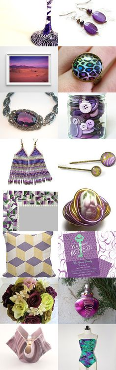 Purple! by Sarah Francis on Etsy--Pinned with TreasuryPin.com https://www.etsy.com/shop/ContemporaryCrafting
