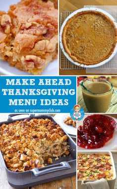 Thanksgiving is a wonderful day to spend with your family, but it's not fun it you're stuck in the kitchen all day preparing the Thanksgiving dinner. But the good news is that you don't have to be! Thanks to these make ahead Thanksgiving menu ideas you can prepare most of the food the day before so all you have to do is cook your Thanksgiving turkey and pop the sides in the oven.