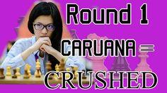 GRENKE CHESS CLASSIC 2017 Round 1 Hou Yifan vs. Fabiano Caruana = CRUSHE...