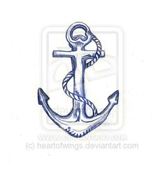 Anchor Tattoo Picture Kudos to inspiration-for-new-tattoos :) Navy Anchor Tattoos, Simple Anchor Tattoo, Anchor Tattoo Meaning, Anchor Tattoo Design, Heart Tattoo Designs, Anchor Designs, Mom Tattoos, Future Tattoos, Tatoos