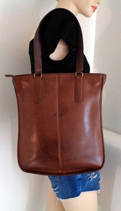 a02a3a5893d7 ReservedCollectible Coach New York City ex large business tote satchel purse  thick rugged glove tanned leather vintage mid 70s